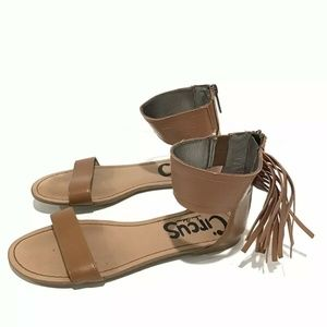 CIRCUS SAM EDELMAN Brown Leather Ankle Sandals